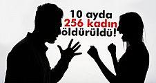 Bu yılın ilk 10 ayında 256 kadın öldürüldü