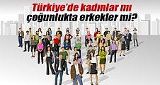 Türkiye'de kadınlar mı çoğunlukta erkekler mi?