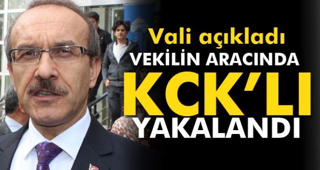 Vali açıkladı: Vekilin aracında KCK'lı yakalandı