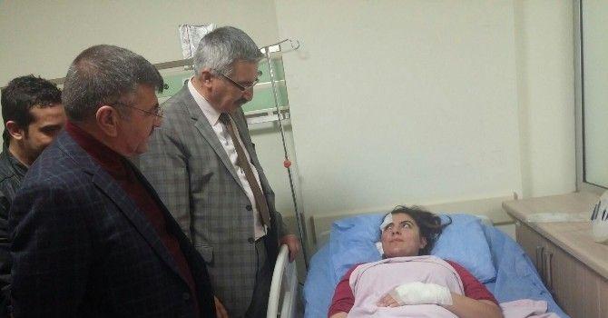 Vali Kılıç Ve Başkan Akdoğan Yaralıları Ziyaret Etti