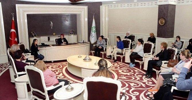 Yabancı Kadın Belediye Yetkililerinden Meram'a Ziyaret