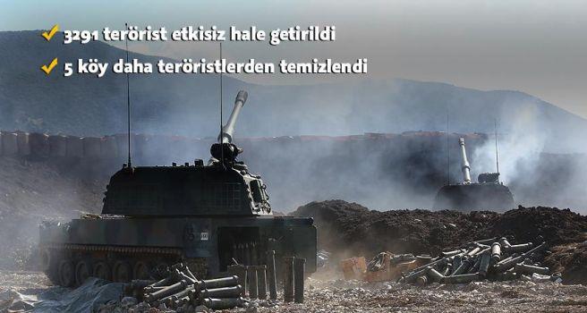 Zeytin Dalı Harekatı'nda 3291 terörist etkisiz hale getirildi