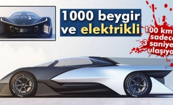 1000 beygir, elektrikli ve 100 km'ye 3 saniyede çıkıyor