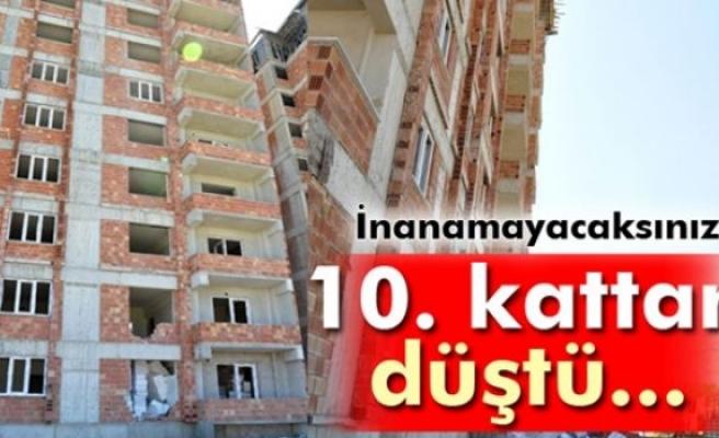 10. kattan düşen ustayı ölümden...