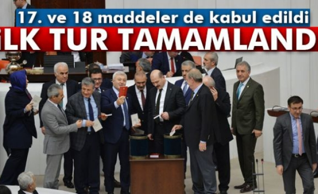 17. ve 18 madde kabul edildi