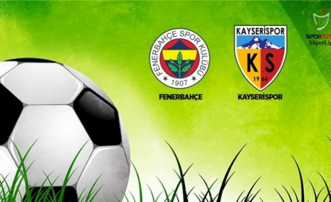 Fenerbahçe'nin rakibi Kayserispor