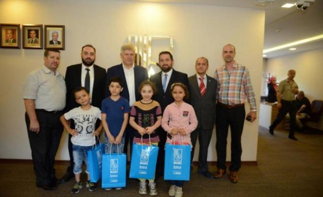 Suriyeli yetim çocuklar BUSKİ'yi ziyaret etti