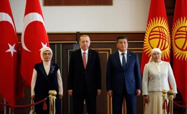 Cumhurbaşkanı Erdoğan Kırgızistan'da