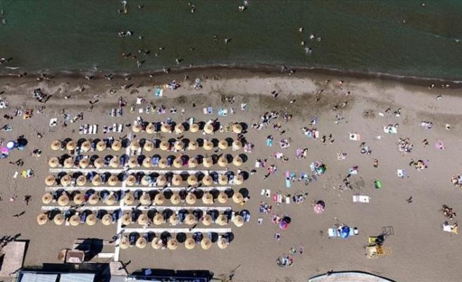Karadeniz'in 'mavi bayraklı' plaj şehri Samsun
