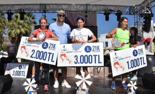 1. Çağdaş Bodrum Yarı Maratonu koşuldu