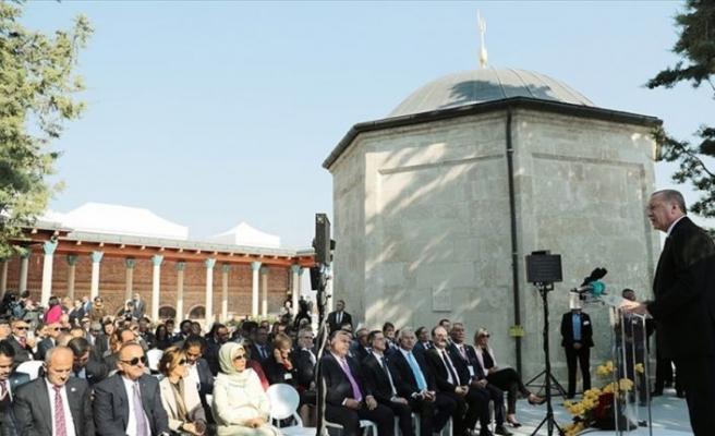 Cumhurbaşkanı Erdoğan: Gül Baba'nın mirasına sahip çıkıp dayanışma dili konuşacağız