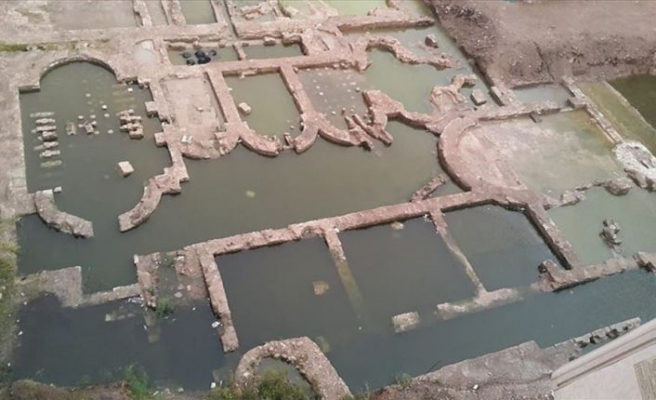 İnşaat alanındaki kalıntı 'imparatorluk salonu' çıktı