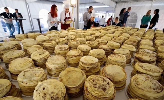 Saraybosna'da krepli Guinness rekoru