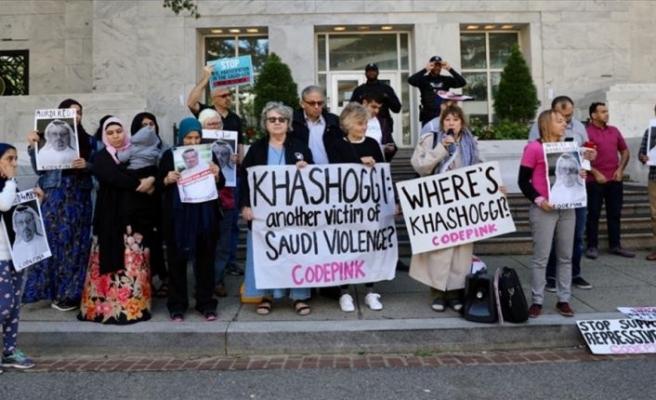 Suudi Arabistan'ın Washington Büyükelçiliği önünde Kaşıkçı protestosu