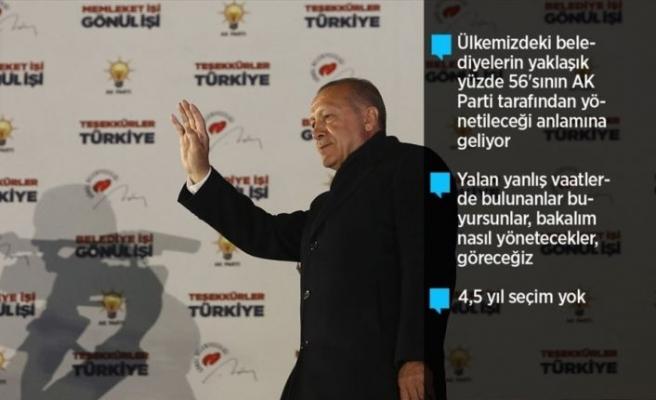 Cumhurbaşkanı Erdoğan: Milletimiz bizi 15'inci defa sandıkta birinci yaptı