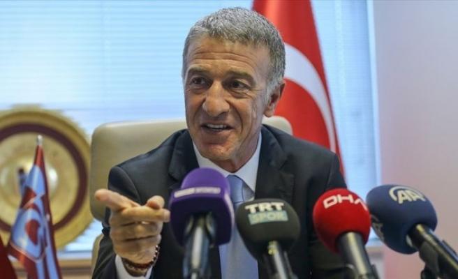 Trabzonspor Kulübü Başkanı Ağaoğlu'ndan futbolculara övgü