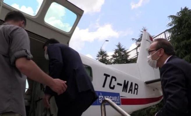 Bakan Kurum Kocaeli'de havadan deniz denetimine katıldı