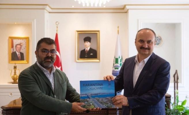 Edirne Valisi Canalp, AA Edirne Bölge Müdürü Baran'ı kabul etti