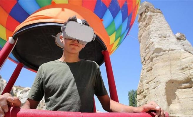 Kapadokya'da 'sanal balon turu'