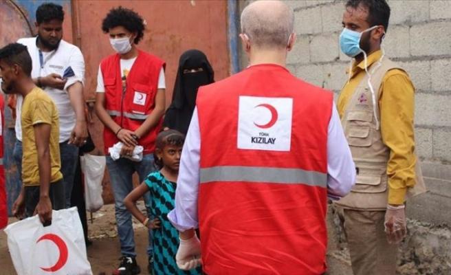 Yemen'de Türk Kızılay'ından rekor et dağıtımı