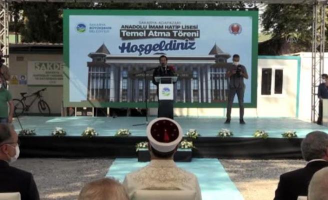 Diyanet İşleri Başkanı Erbaş, mezunu olduğu okulun yeni binasının temelini attı