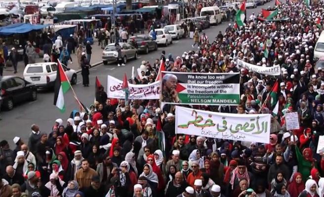 Güney Afrika'da Filistin'e destek yürüyüşü