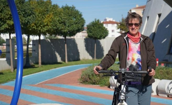 Bisikletle dünya turuna çıkan Türkiye hayranı Hollandalı Kırklareli'ne geldi