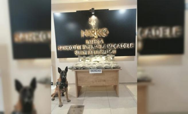 Bursa'da 10,5 kilogram sentetik uyuşturucu bulunduran şahıs gözaltına alındı