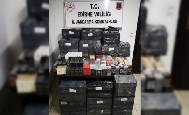 Edirne'de 2 bin 736 adet kaçak parfüm ele geçirildi