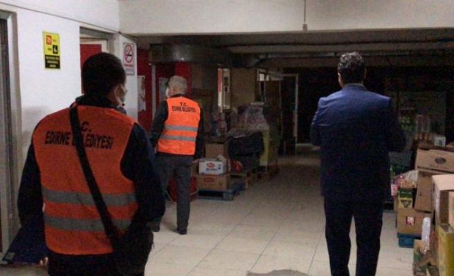 Edirne'de çok katlı binaların altındaki iş yerleri denetleniyor