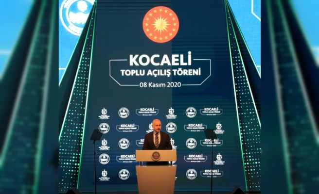 Ulaştırma ve Altyapı Bakanı Adil Karaismailoğlu, Kocaeli'de açılış töreninde konuştu: