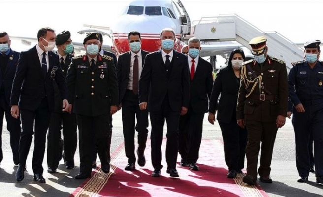 Bakan Akar ve Orgeneral Güler resmi ziyaret için Irak'ta