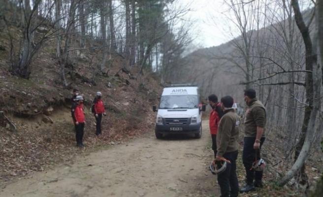 Bursa'da ormanlık alanda mahsur kalan kişi kurtarıldı