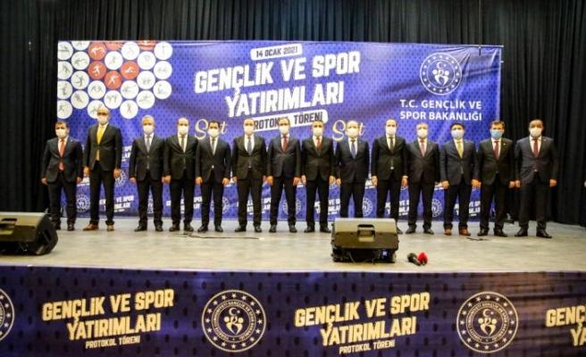 """Gençlik ve Spor Bakanı Kasapoğlu, """"Gençlik ve Spor Yatırımları Protokol Töreni""""nde konuştu:"""