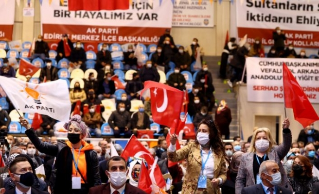 İzmir Milletvekili Binali Yıldırım, AK Parti Edirne 7. Olağan İl Kongresi'nde konuştu