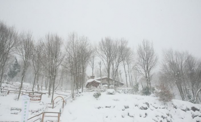 Kartepe'de kar kalınlığı 85 santimetreye ulaştı