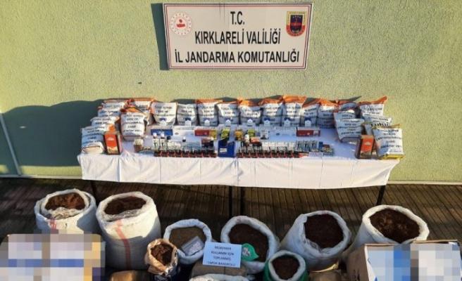 Kırklareli'nde kaçakçılık operasyonu: 2 gözaltı
