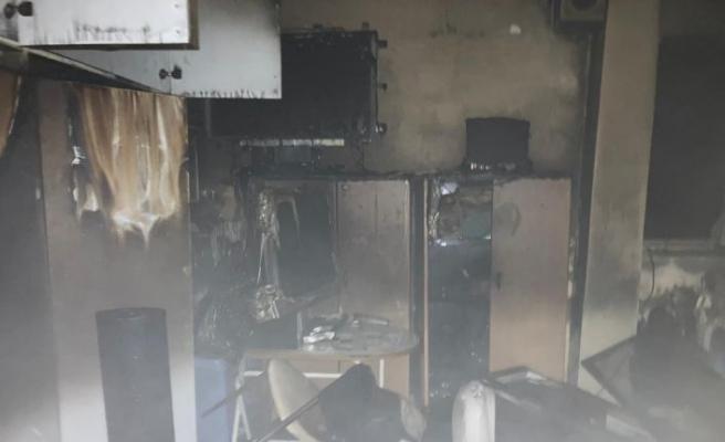 Kırklareli'nde mandırada çıkan yangında 1 işçi yaralandı