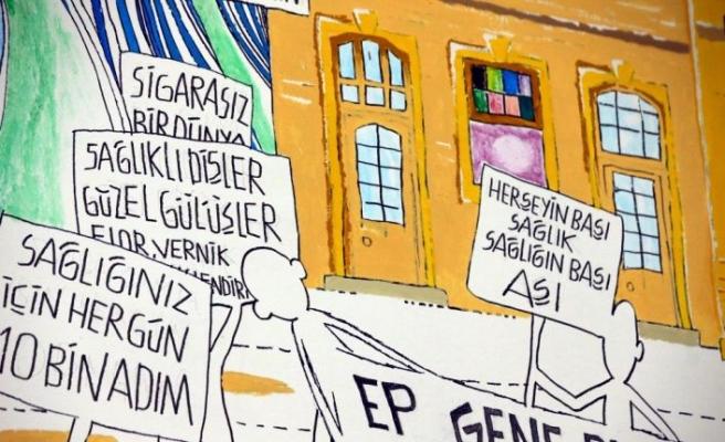 Kırklareli'nde vatandaşlar Kovid-19'a karşı Karagöz karikatürleriyle uyarılıyor