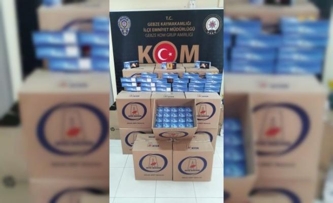 Kocaeli'de 150 bin kaçak makaron yakalandı