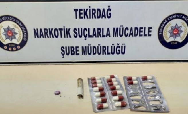Tekirdağ'da uyuşturucu operasyonlarında 4 şüpheli yakalandı