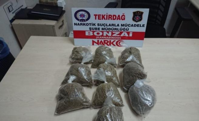 Tekirdağ'da otomobilde 1 kilogram uyuşturucu ele geçirildi, 3 kişi yakalandı