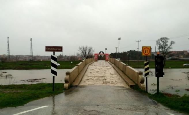 """Tunca Nehri için alarm seviyesi """"turuncu""""ya yükseltildi"""