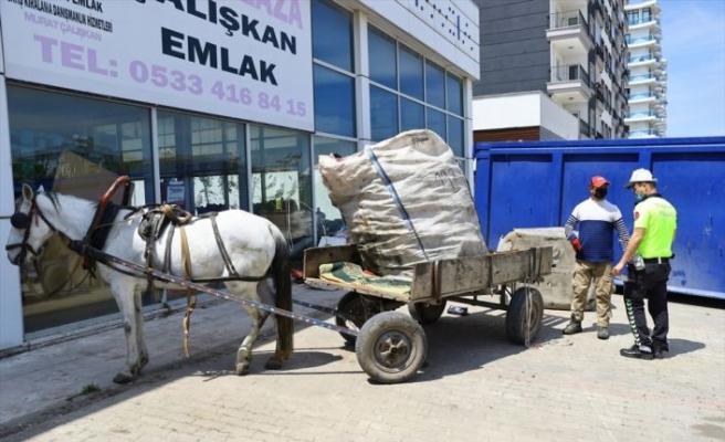Edirne'de at arabasıyla çarpışan motosikletli kurye yaralandı