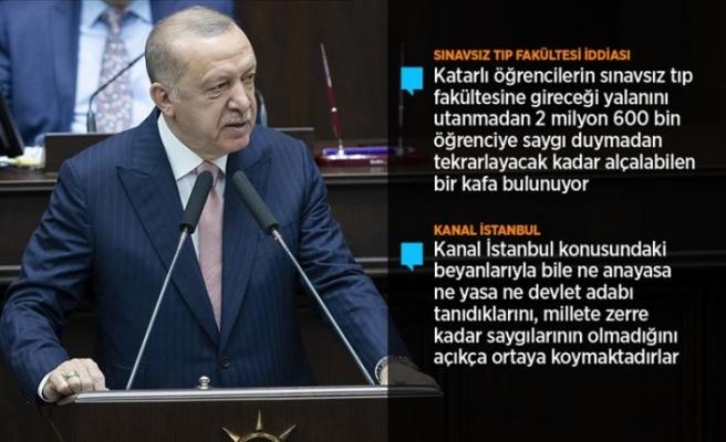 Cumhurbaşkanı Erdoğan: Türkiye, CHP zihniyetinin yalan ve iftira zulmüne maruz kalmaktadır