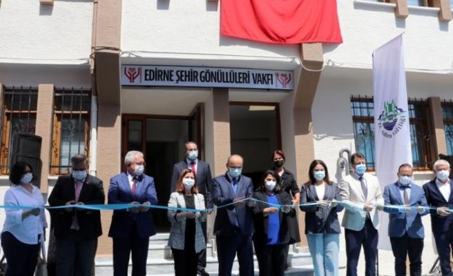 """""""Edirne Şehir Gönüllüleri Vakfı"""" hizmet binası açıldı"""