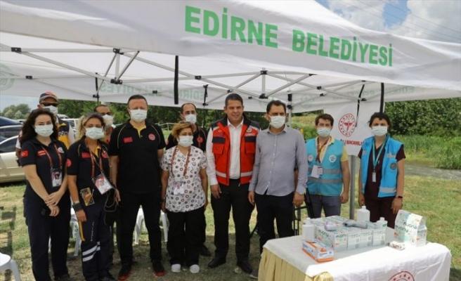 660. Tarihi Kırkpınar Yağlı Güreşleri'nin yapıldığı Sarayiçi'nde 100'den fazla sağlık personeli görev alıyor