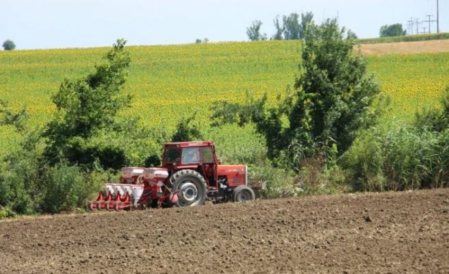"""Edirne'de """"ikinci ürün ayçiçeği"""" üretiminin artırılması amacıyla çiftçilere hibe tohum dağıtıldı"""