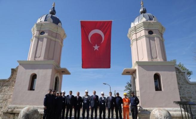 Adalet Bakanı Gül  Edirne'de hükümlülerin restore ettiği kule kapıları inceledi