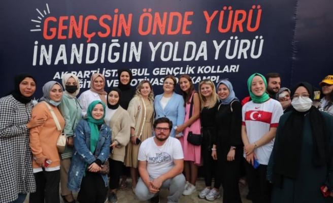 """Aile ve Sosyal Hizmetler Bakanı Yanık, Keşan'daki """"Motivasyon Kampı'nda gençlerle bir araya geldi"""